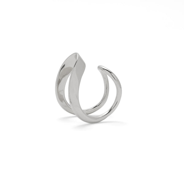 Raia Ring in Rhodium