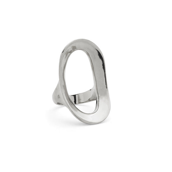 Rink Ring in Rhodium