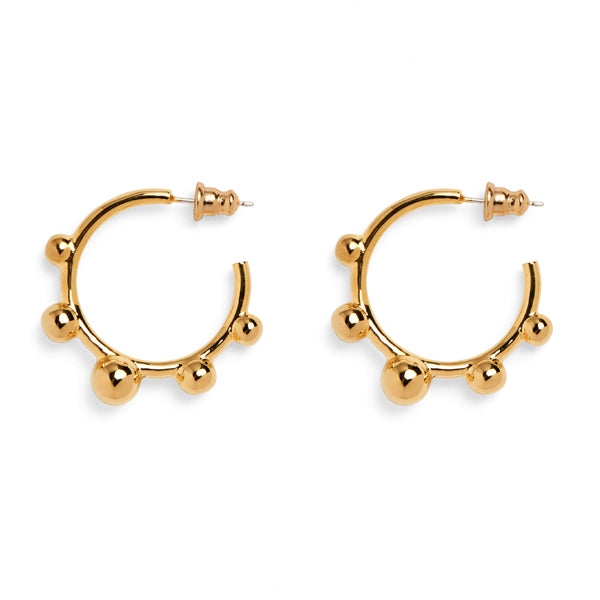Rise Hoops in Gold