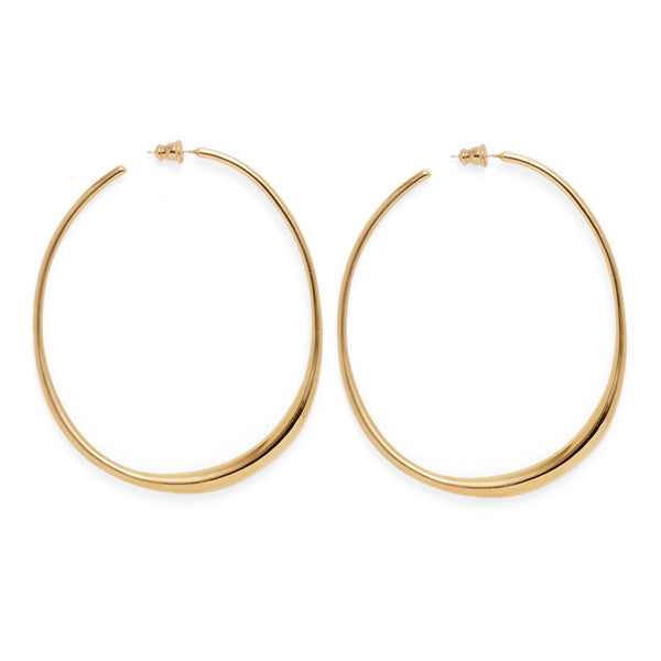 Roe Hoops in Gold