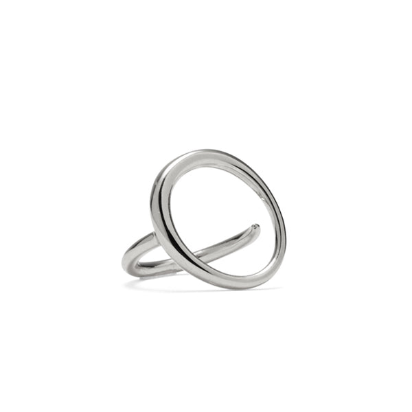 Roe Ring in Rhodium