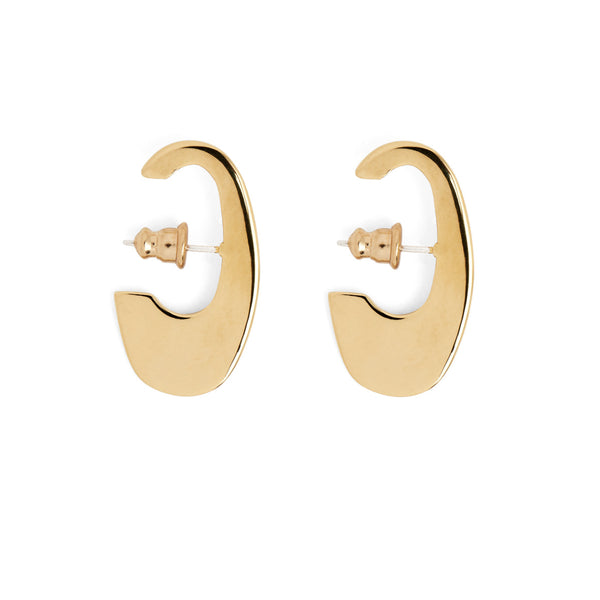 Small Ovoid Earring in Gold