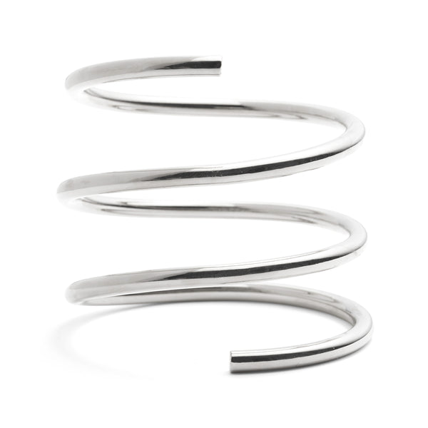 Spiral Bracelet in Rhodium