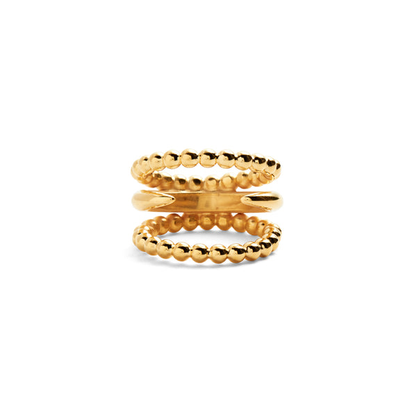 Split Ophidia Ring in Gold
