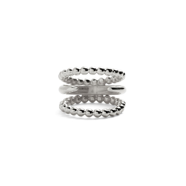 Split Ophidia Ring in Silver