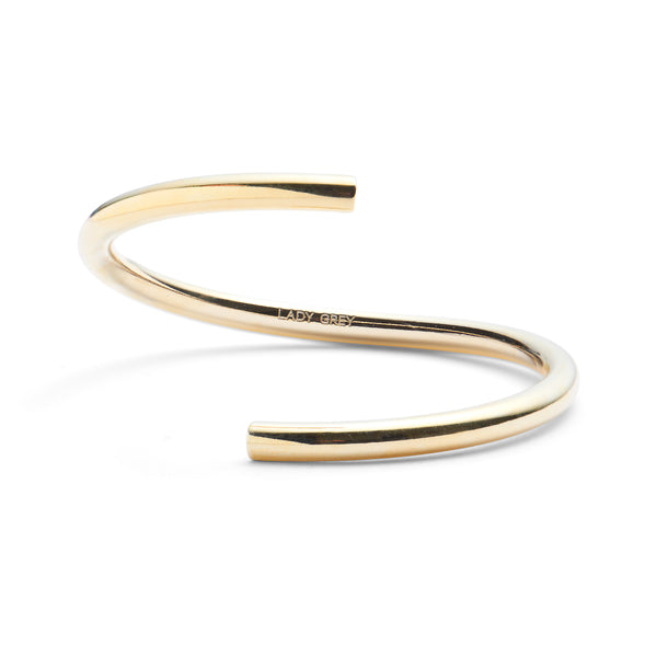 Split Bangle in Gold