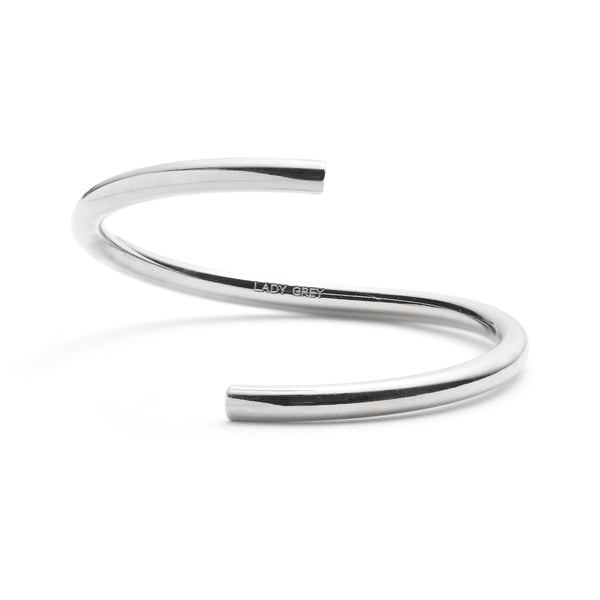 Split Bangle in Rhodium