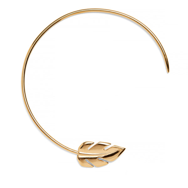 Stera Leaf Collar in Gold