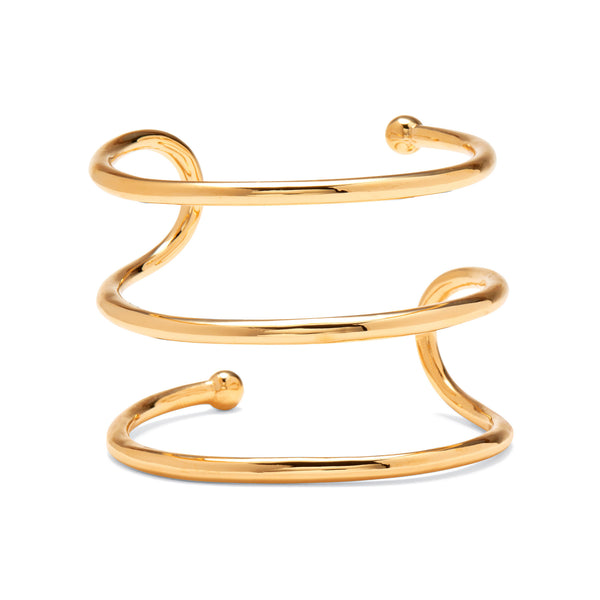 Swerve Cuff in Gold