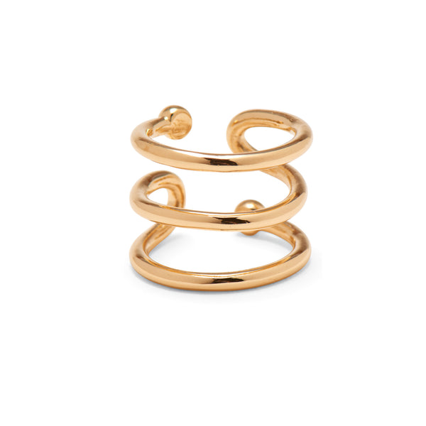 Swerve Ring in Gold