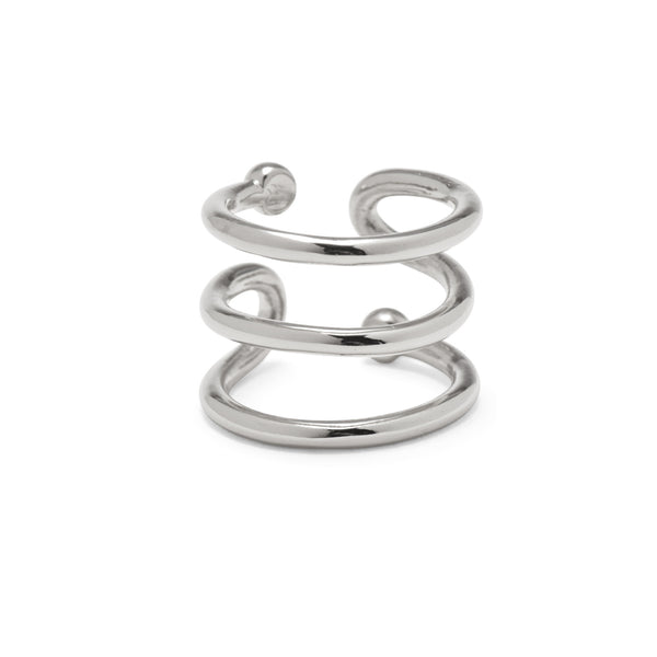 Swerve Ring in Silver