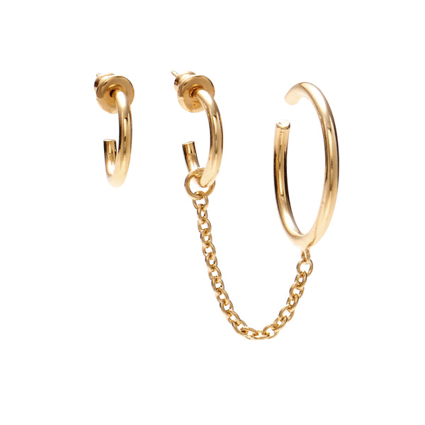 Tether Earring in Gold