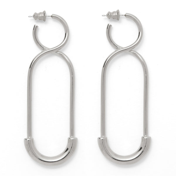 The 88 Earring in Rhodium