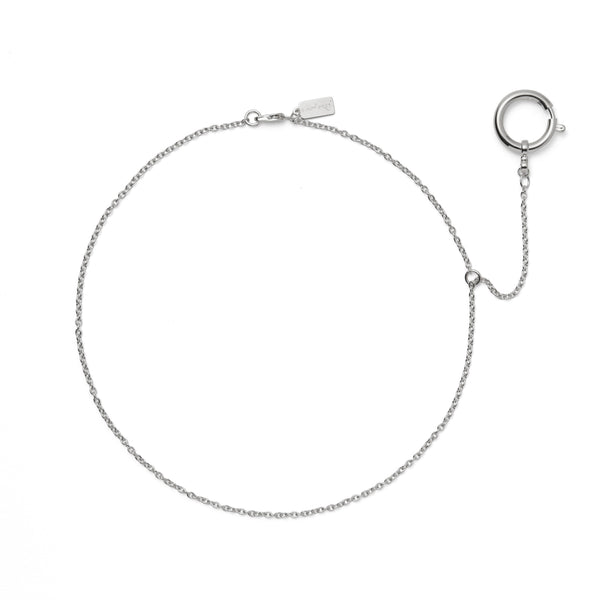 The Earring Necklace in Rhodium