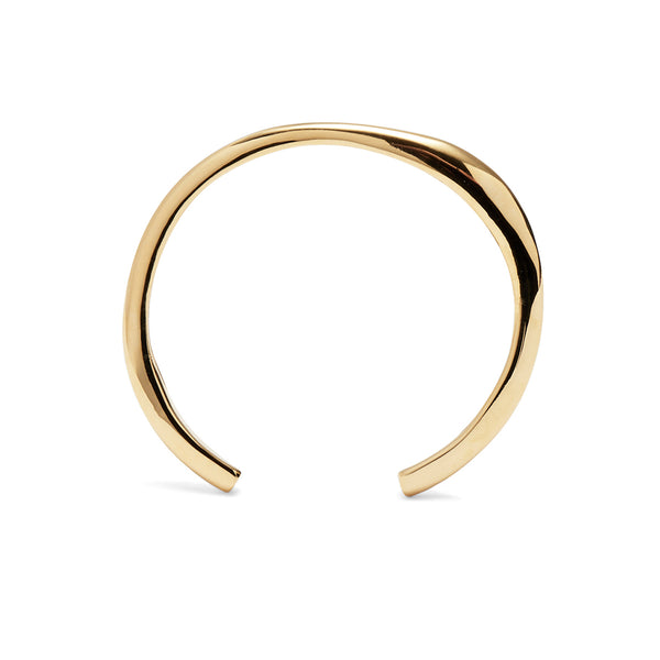 Thin Organic Cuff in Gold