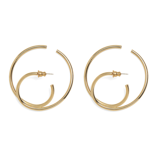 Thru Hoops in Gold