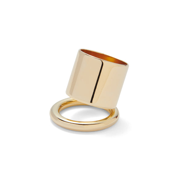 Tilt Ring in Gold