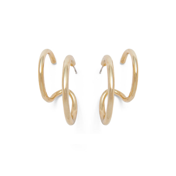 Waver Earring in Gold