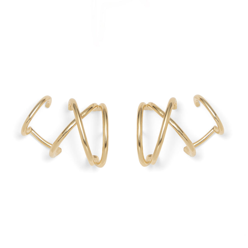 Lady Grey Jewelry X Ear Cuff in Gold