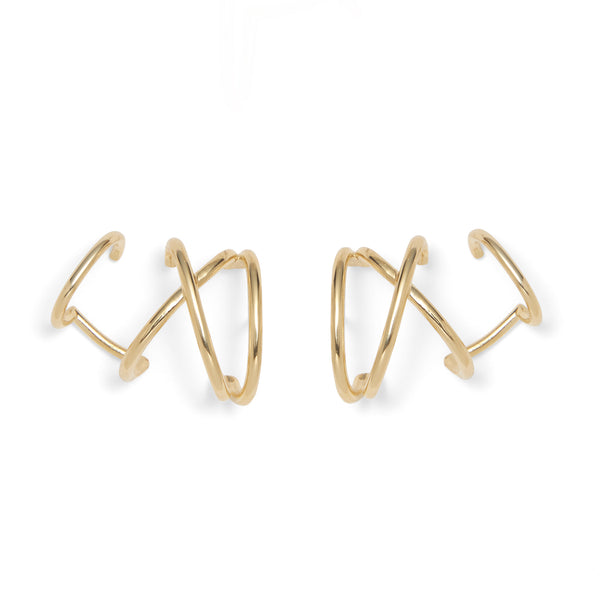 X Ear Cuff in Gold