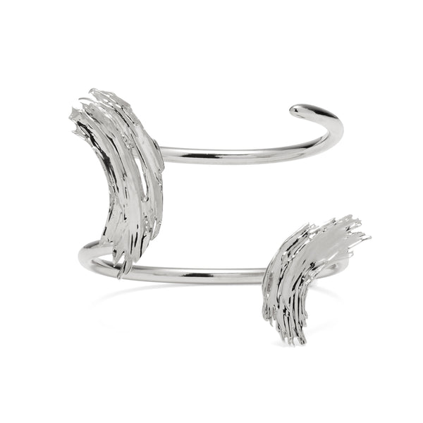 Louise Cuff in Rhodium