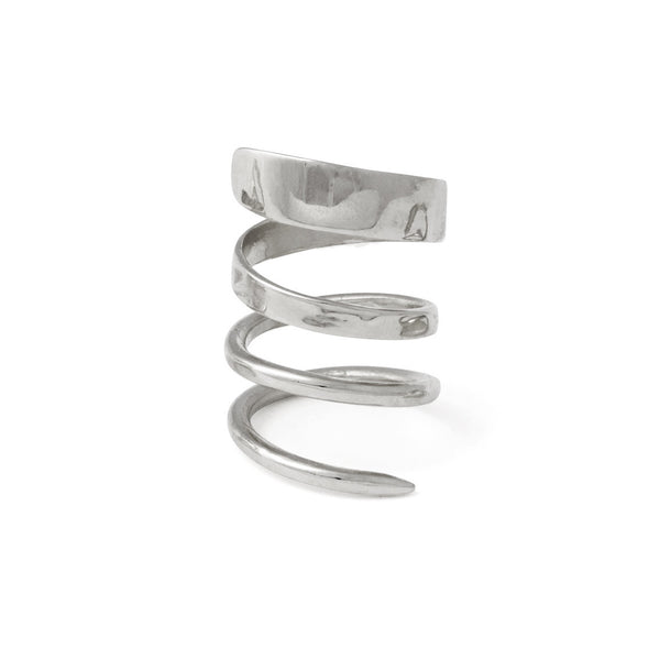 Ribbon Ring in Rhodium
