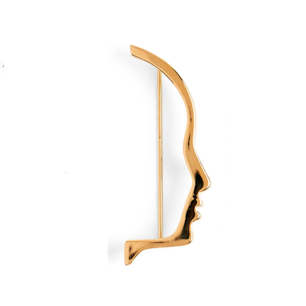 Silhouette Brooch in Gold