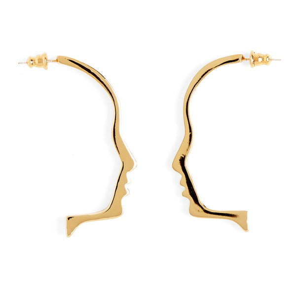 Silhouette Earring in Gold