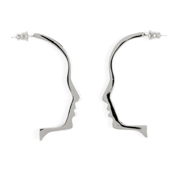 Silhouette Earring in Rhodium