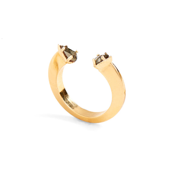 Split Disc Ring in Gold