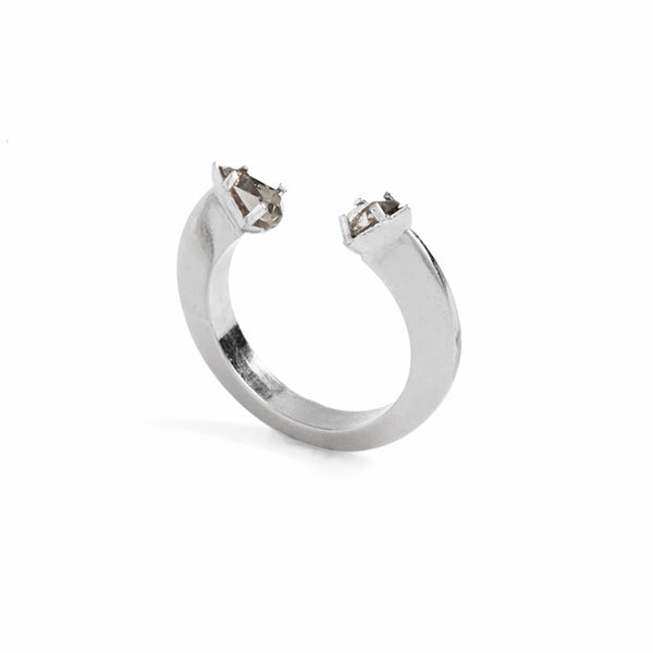 Split Disc Ring in Silver