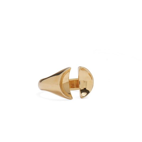 Split Signet Ring in Gold