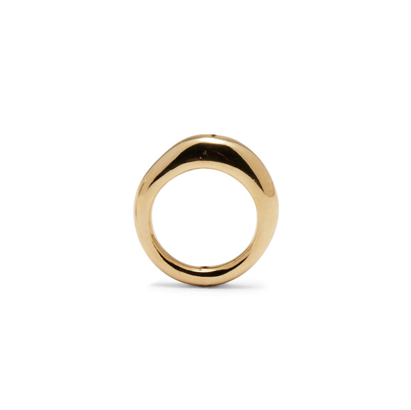Thin Organic Ring in Gold