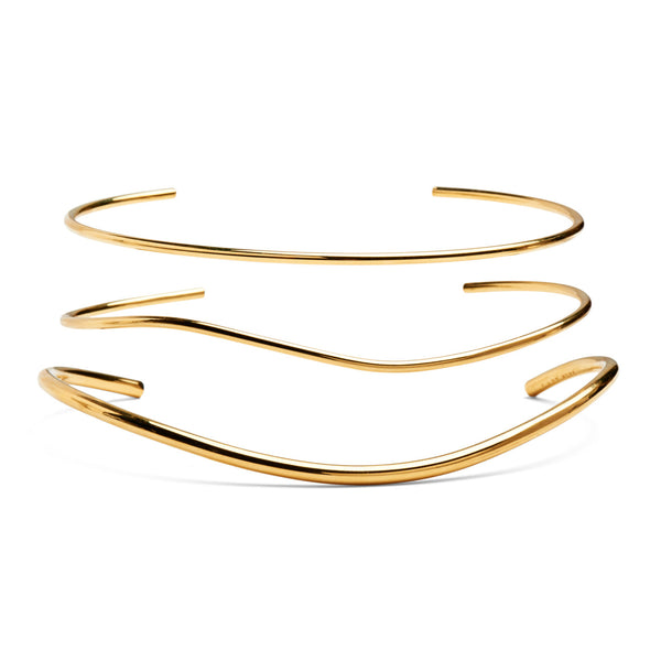 Wave Collar Set in Gold