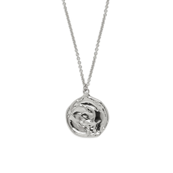 Palette Necklace in Rhodium