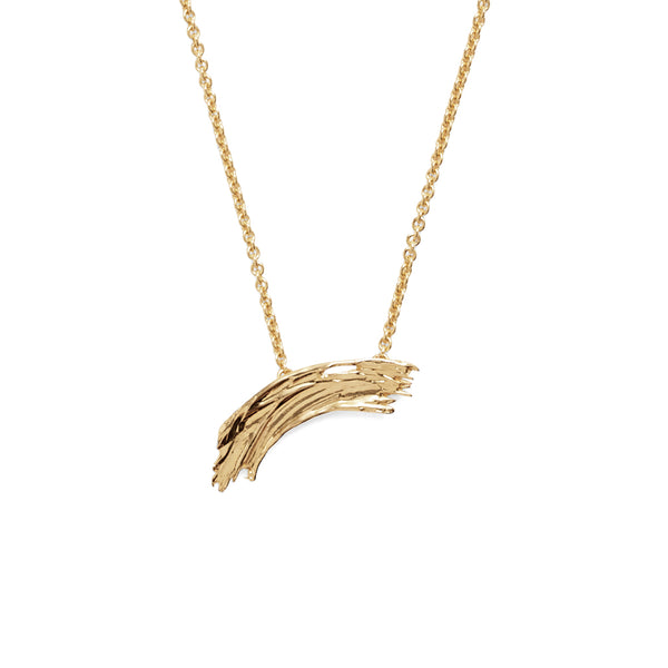 Small Brushstroke Necklace in Gold