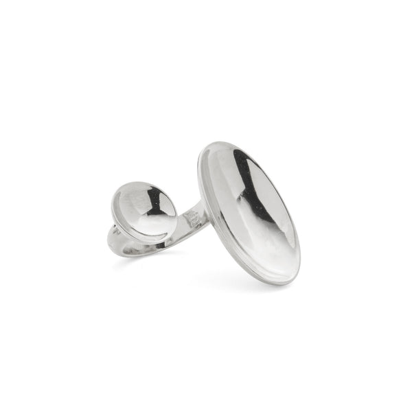 Dome Ring in Rhodium