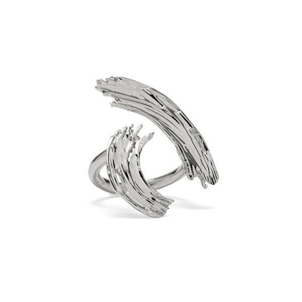 Louise Ring in Rhodium