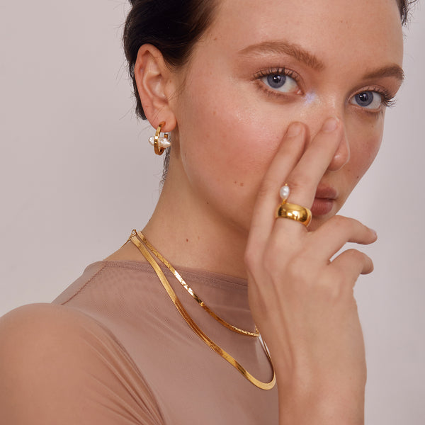 Stratus Earring in Gold