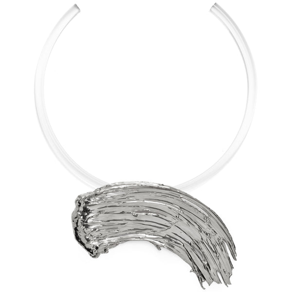 Eva Collar in Rhodium