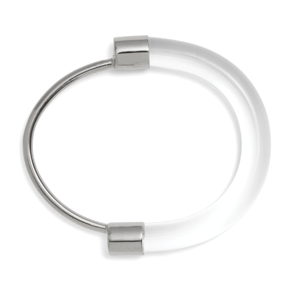 Fraction Bracelet in Rhodium and Clear