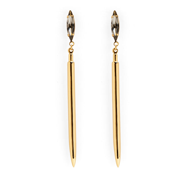 Crystal Spike Earring in Gold