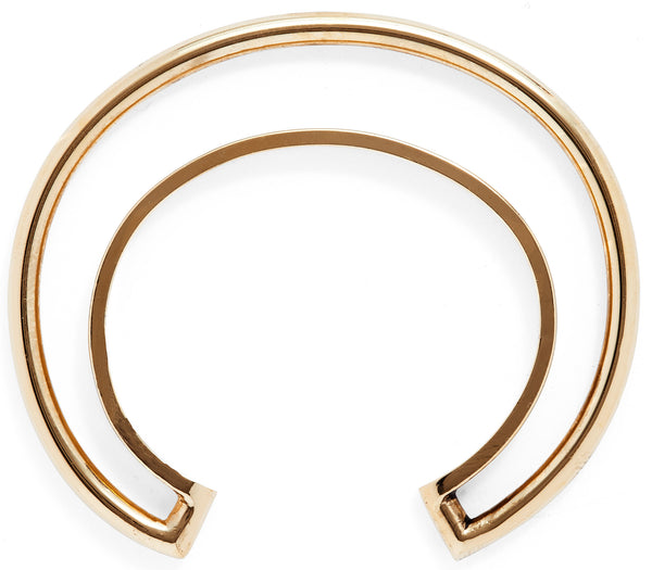 Orbital Bangle in Gold