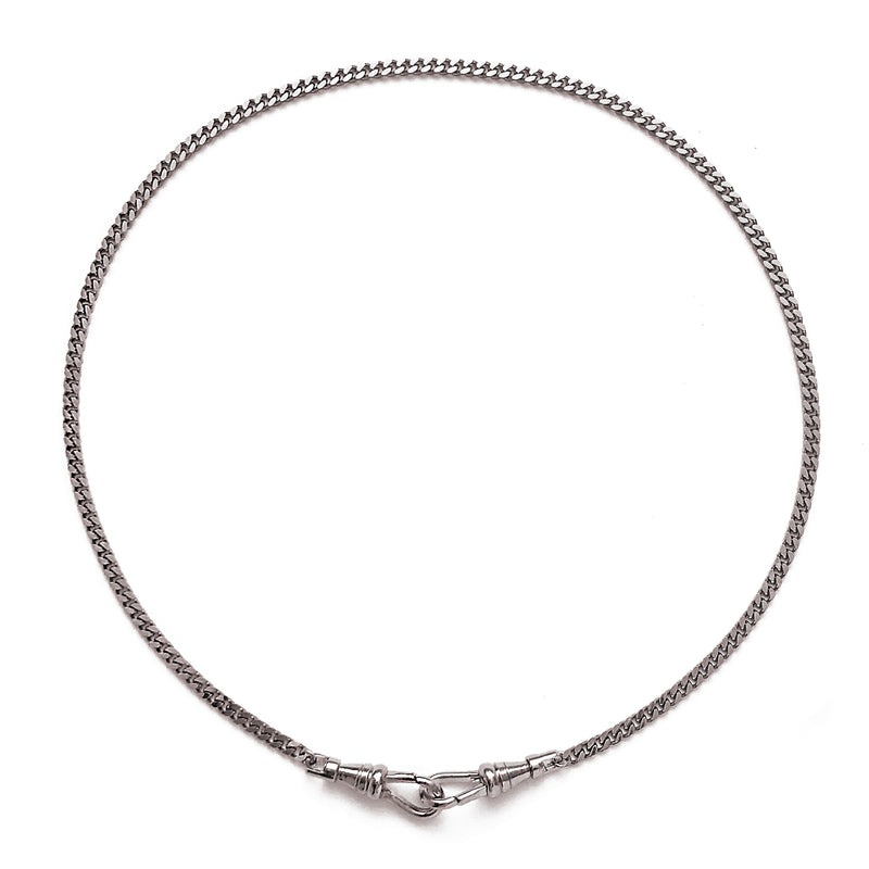 Curb Mask Chain in Silver