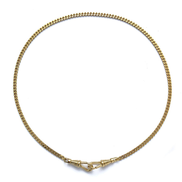 Curb Mask Chain in Gold