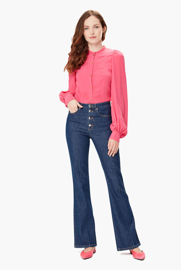 Jean Taille Haut En Denim Stretch