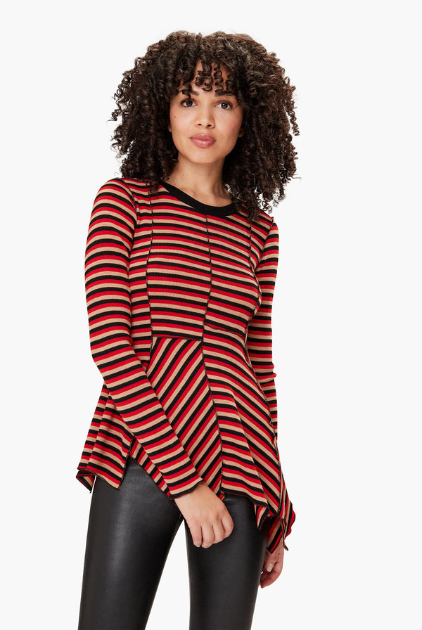 Asymetrical Striped Top