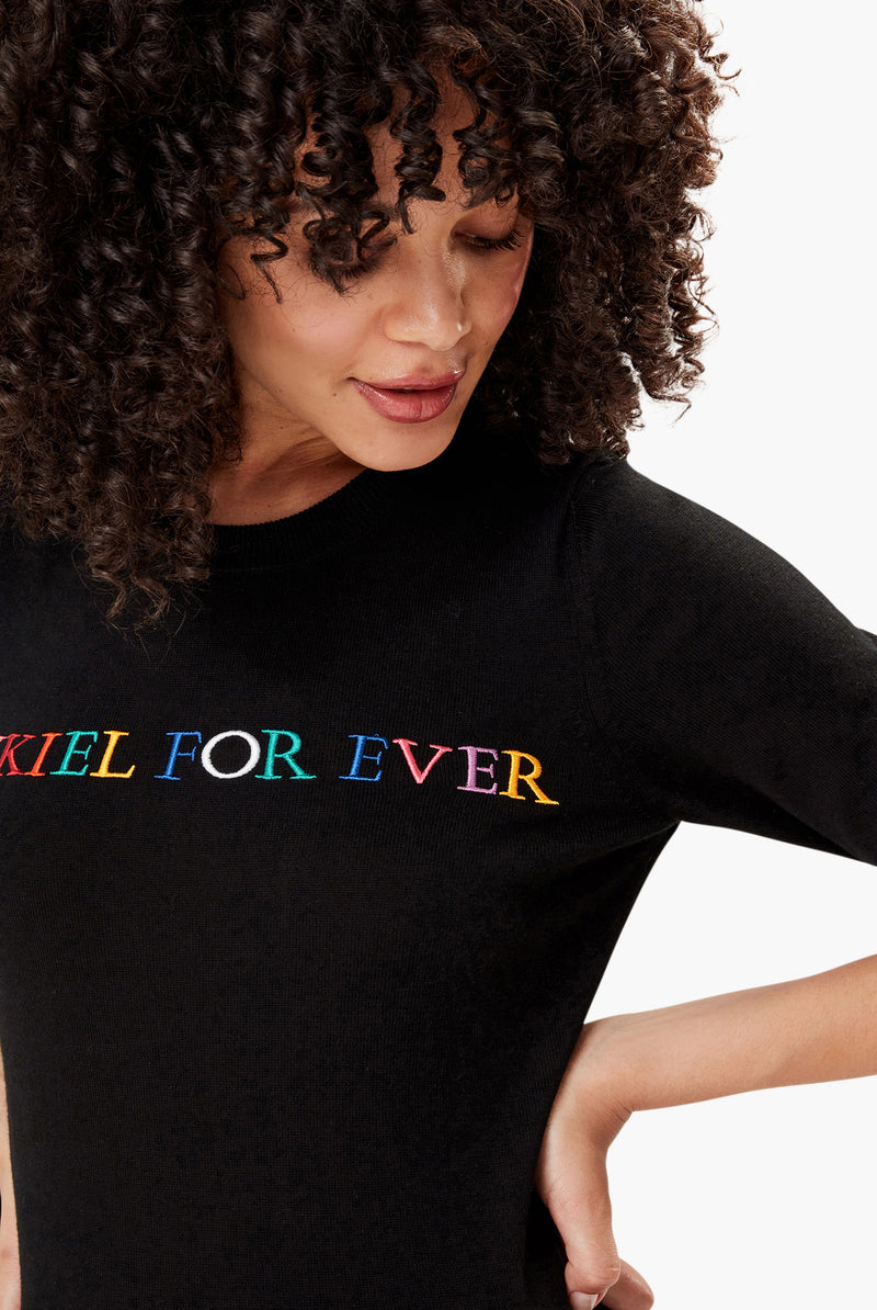 Pull en maille noir Rykiel For Ever.