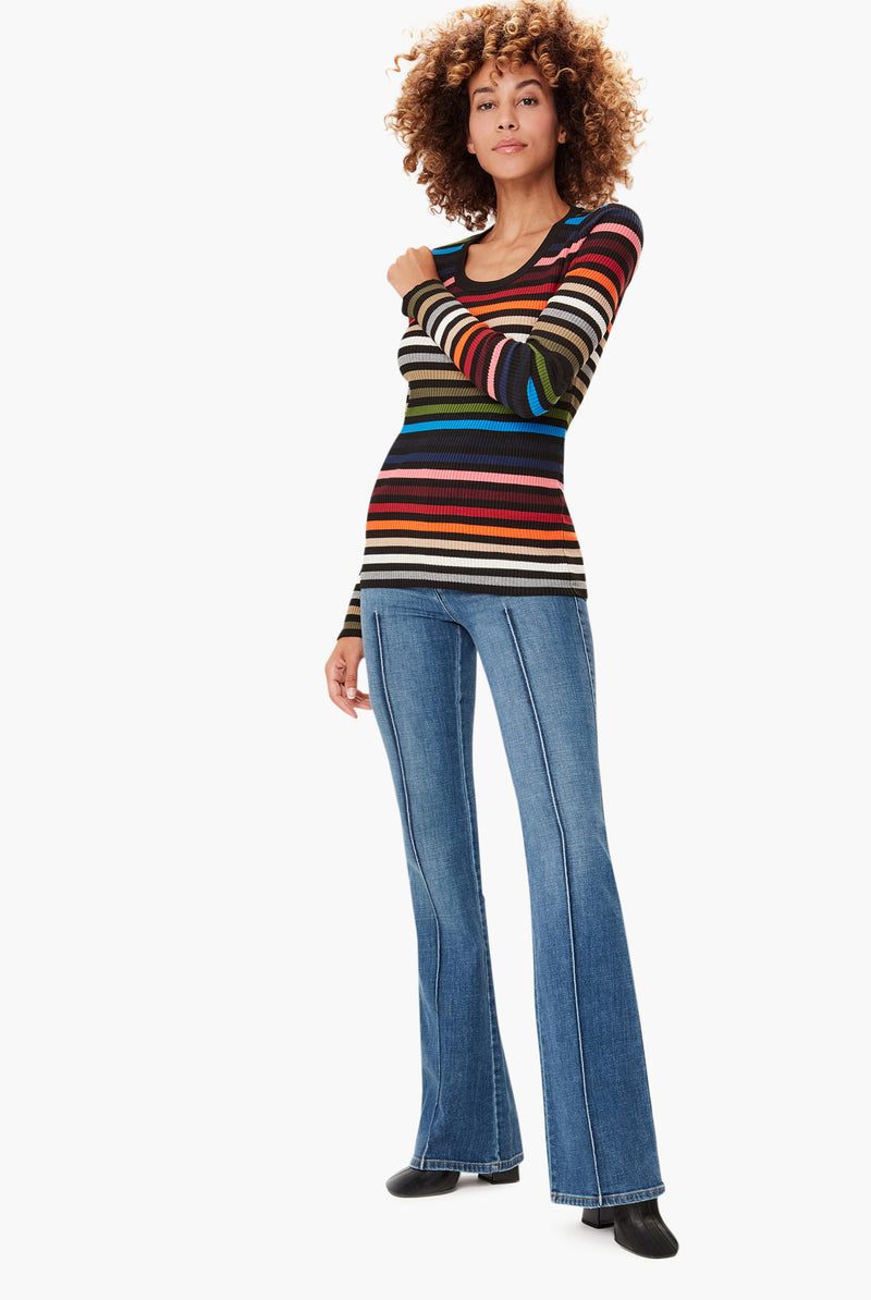 Multicoloured Stripe Sweater
