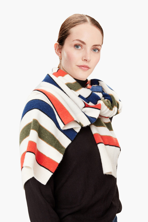 Half Pullover Saint-Germain Striped Multicolour